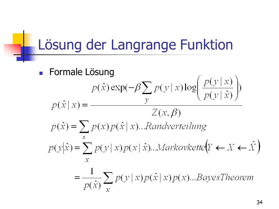 34 Lösung der Langrange Funktion Formale Lösung