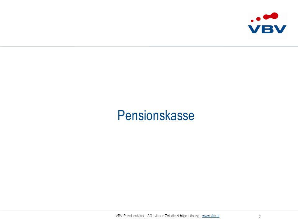 VBV-Pensionskasse AG - Jeder Zeit die richtige Lösung.