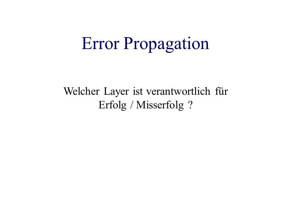 Error Propagation Welcher Layer ist verantwortlich für Erfolg / Misserfolg