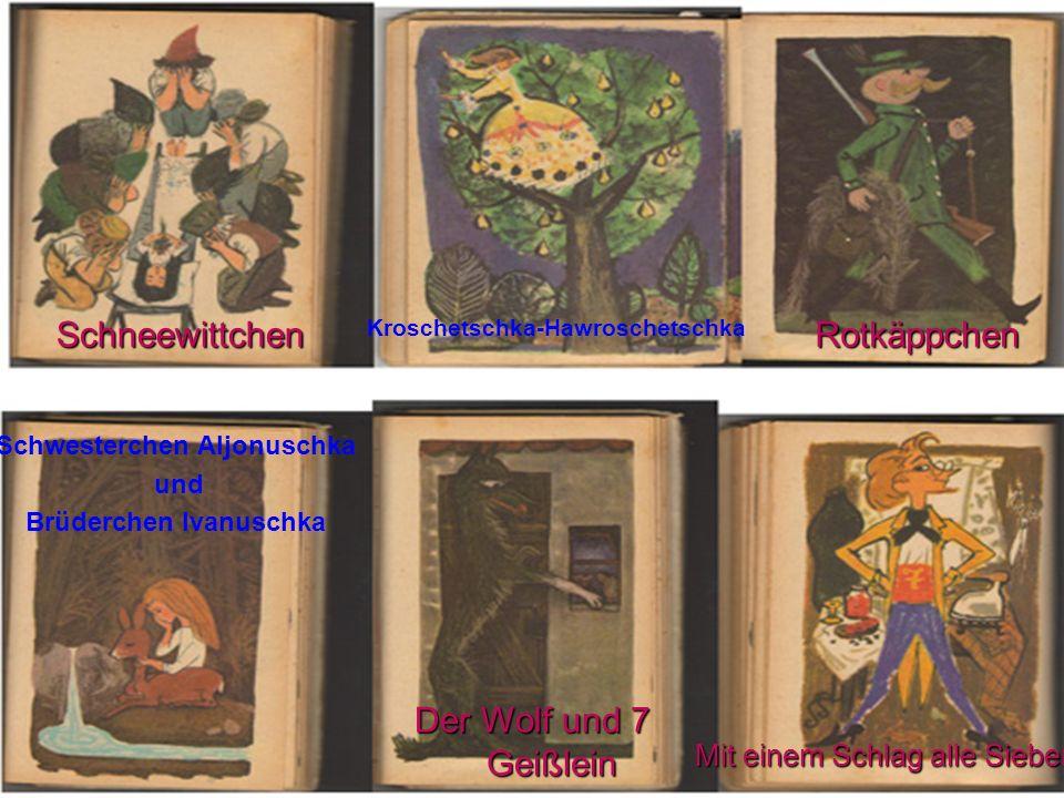 Seht euch die Bilder an und sagt, aus welchen Märchen diese Episoden sind.