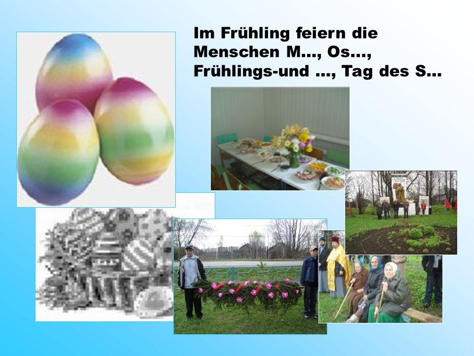 . Im Frühling feiern die Menschen M…, Os..., Frühlings-und …, Tag des S…