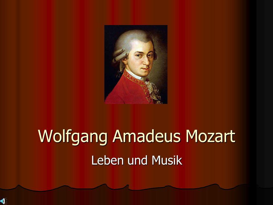 Nachname: Mozart Vorname: Wolfgang Amadeus Geburtsdatum: 1756-01-27 Geburtsort: Salzburg (Österreich) Todesdatum: 1791-12-05 Todesort: Wien (Österreich) Sternzeichen: Wassermann 21.01 - 19.02