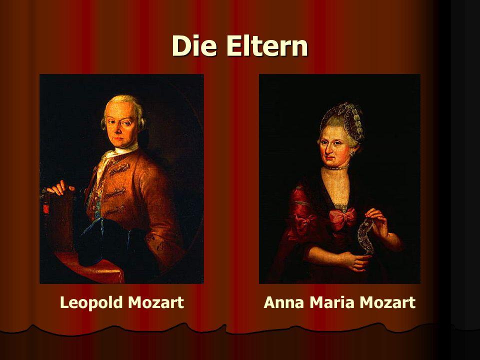 Anna Maria MozartLeopold Mozart Die Eltern