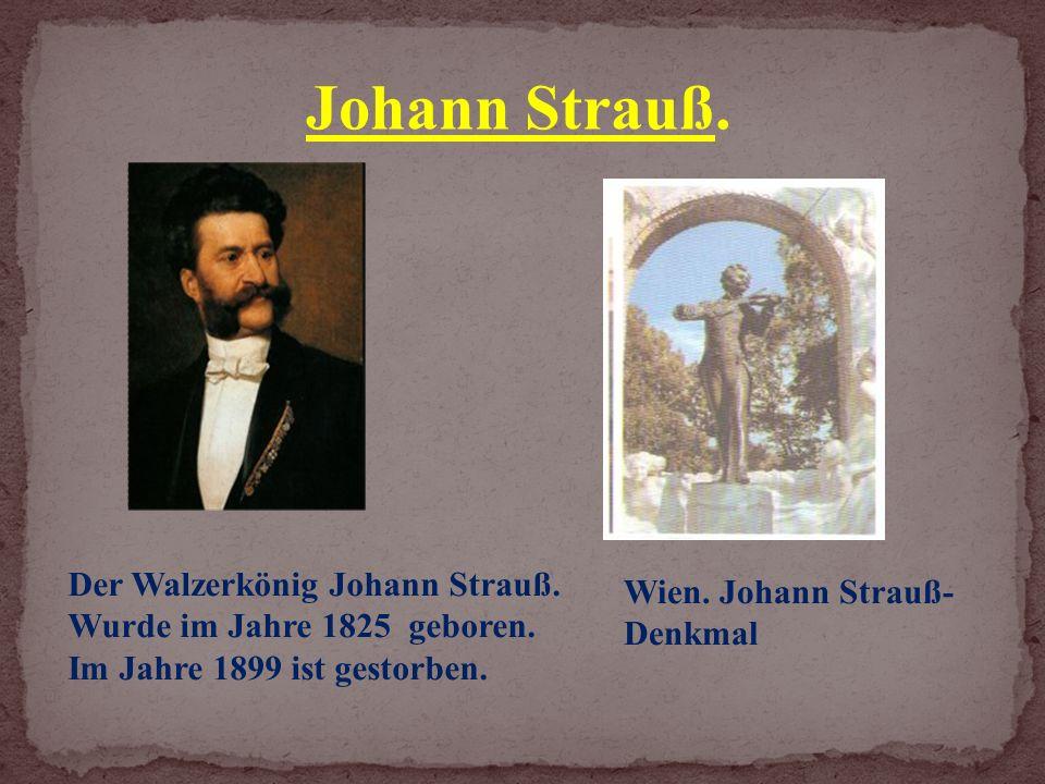 Wien. Johann Strauß- Denkmal Der Walzerkönig Johann Strauß.