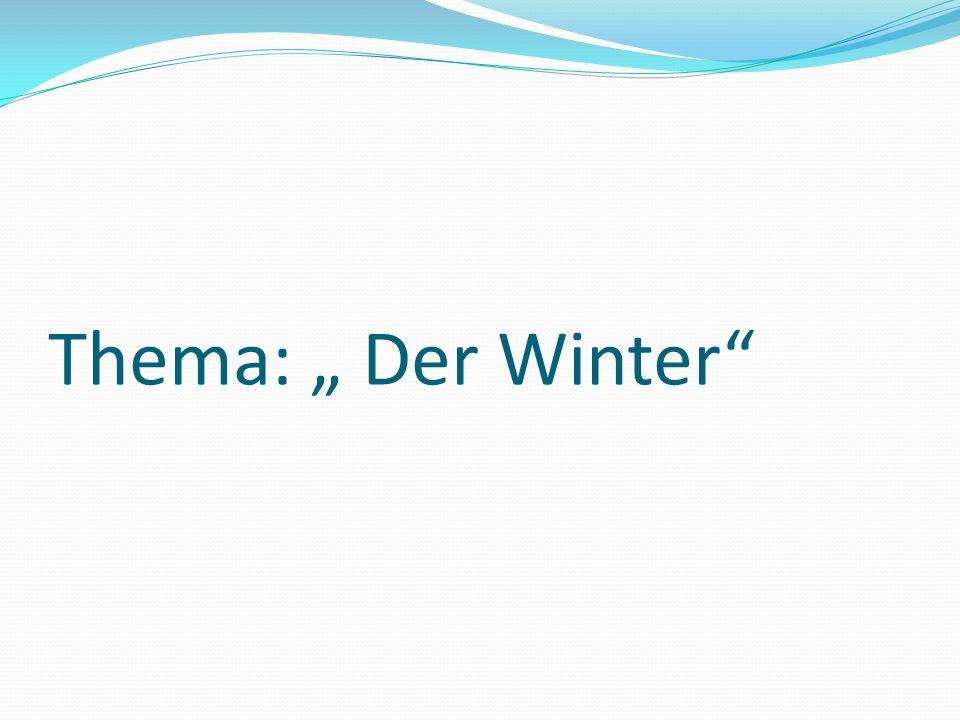 Mundgumnastik A, a, a, der Winter ist schon da.E, e, e, überall liegt Schnee.