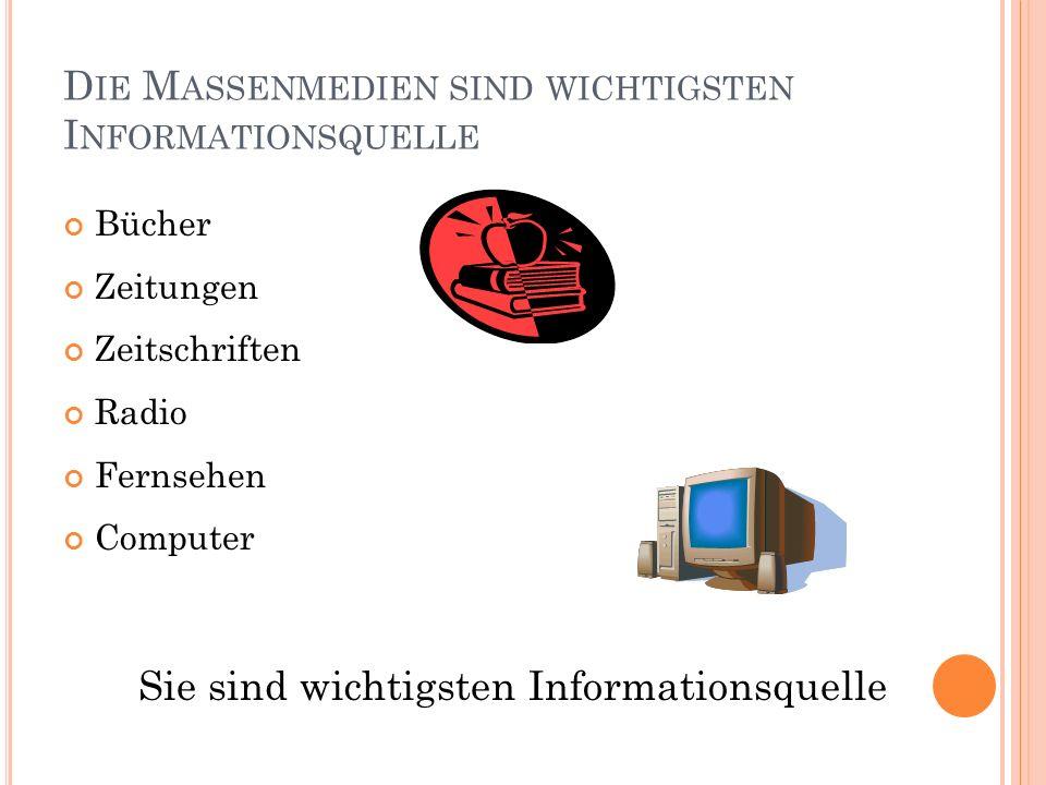 D EUTSCHE Z EITUNGEN Z EITSCHRIFTEN «die Zeit» «die Süddeutsche Zeitung» «die Welt» «Frankfurter Allgemeine» «Juma» «der Spiegel» «Stern» «Journal für Deutschland»