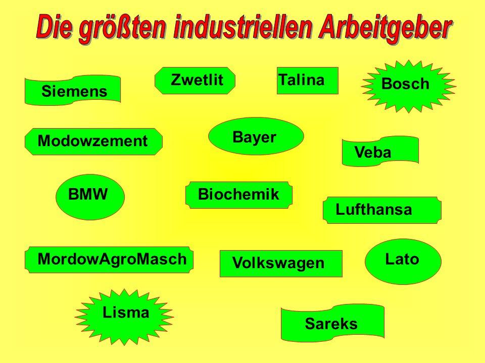 Siemens BMW Volkswagen Veba Bayer Lufthansa MordowAgroMasch Lisma Bosch Talina Sareks Biochemik Lato Zwetlit Моdowzement