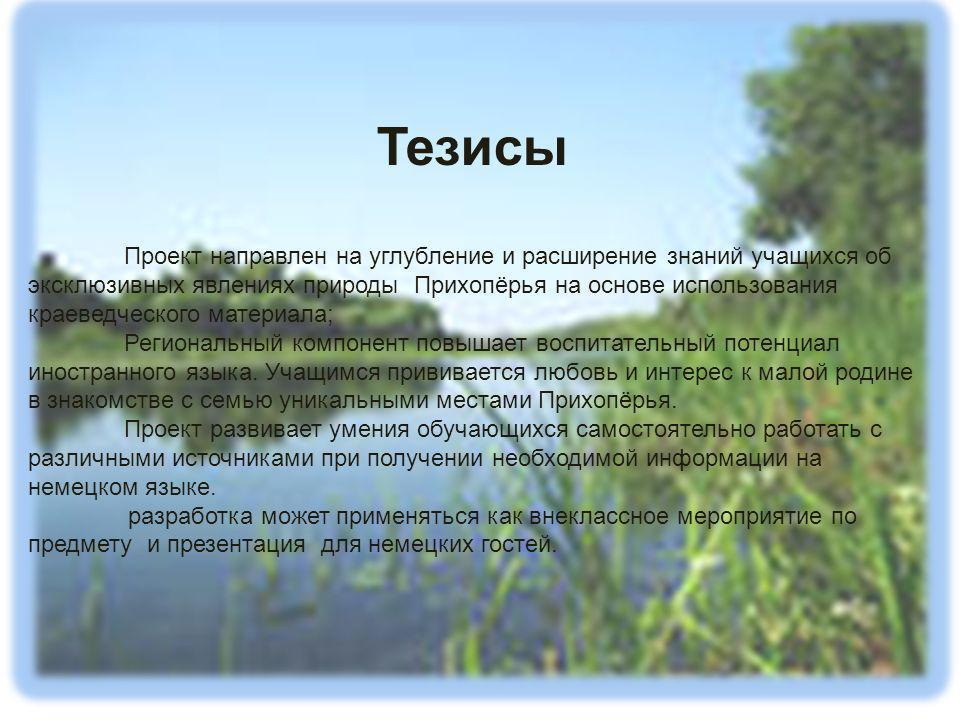 Das Projekt ist von Merkulov Artöm, dem Schüler der 8.Klasse erfüllt Die Leiterin des Projektes: Deutschlehrerin Jurina T.