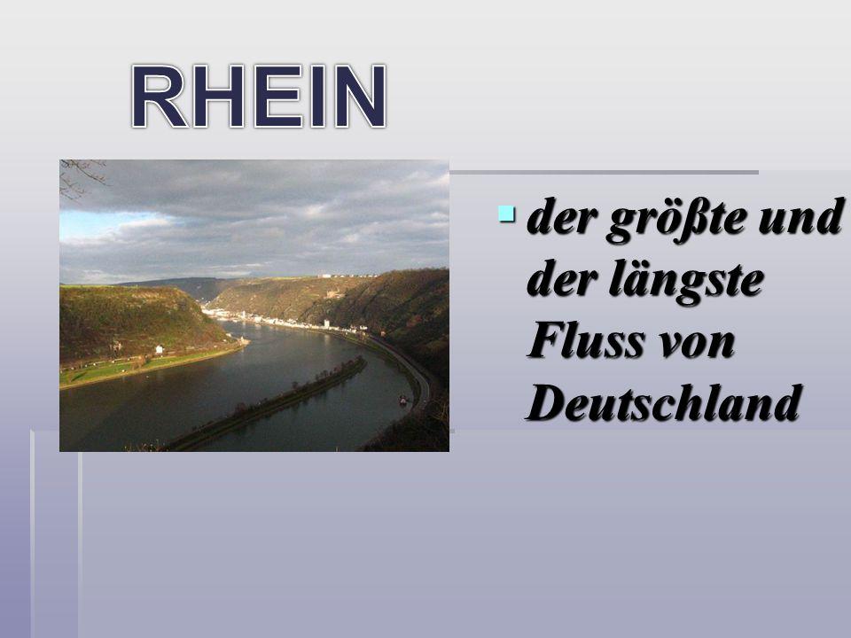 der größte und der längste Fluss von Deutschland der größte und der längste Fluss von Deutschland