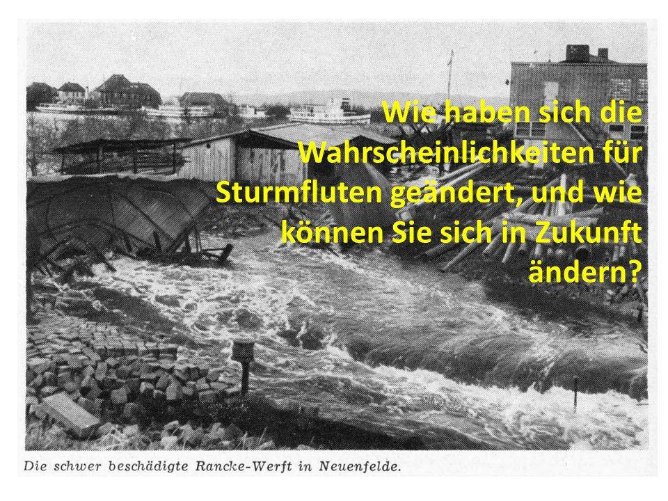 Sonderfall: Tideelbe – Wirkung von Vertiefung der Tiedeelbe und Effektivierung des Küstenschutzes Unterschied in Sturmfluthöhen in Cuxhaven und Hamburg (in cm)