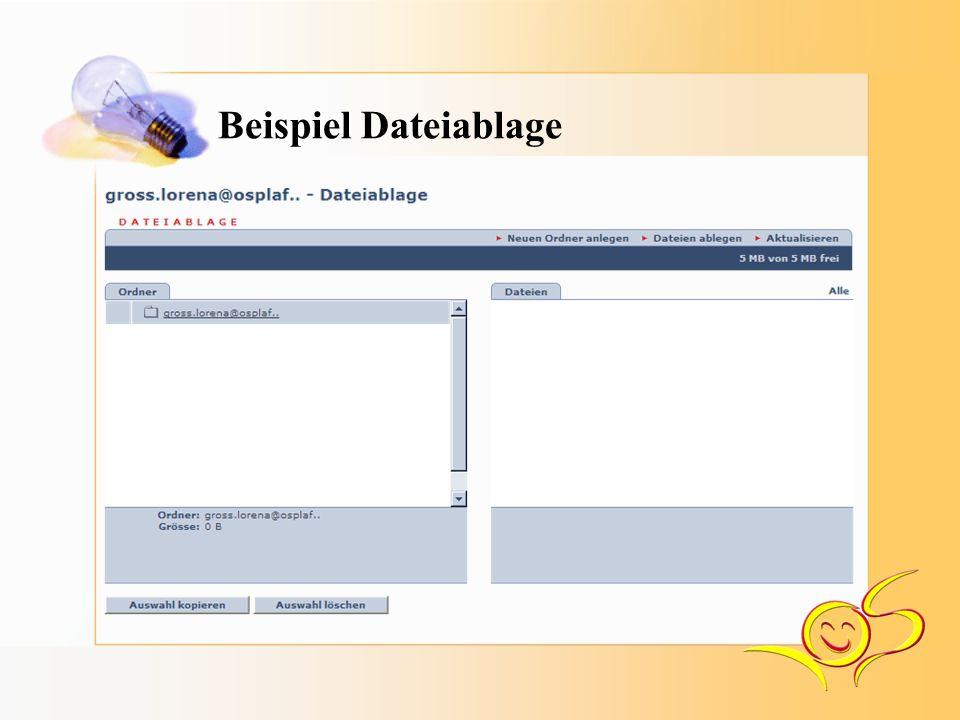 Beispiel Dateiablage