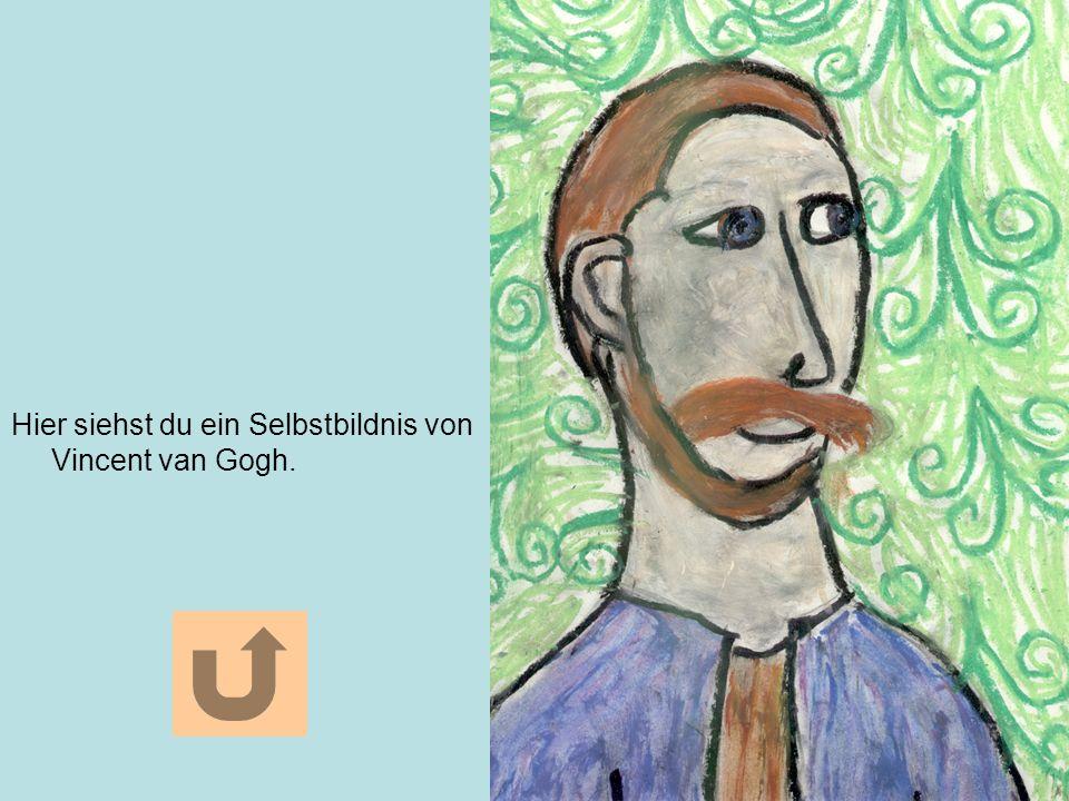 Hier siehst du ein Selbstbildnis von Vincent van Gogh.