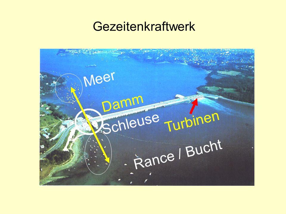 Gezeitenkraftwerk Rance / Bucht Meer Damm Turbinen Schleuse