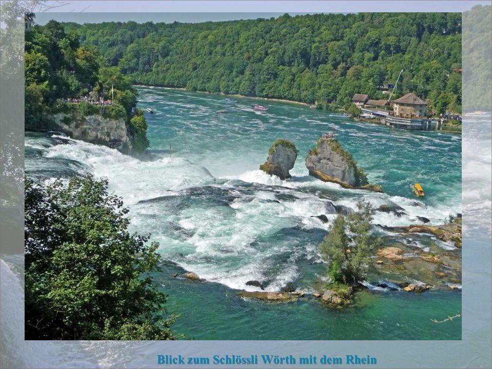 der Rheinfelsen kann bestiegen werden