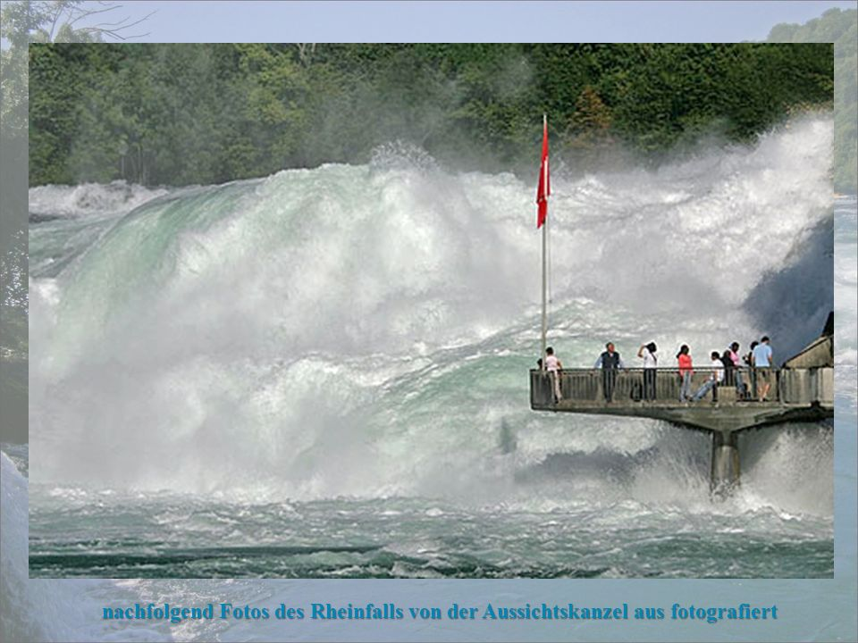 vom Schloss Laufen ist der Rheinfall von mehreren Ebenen aus zu besichtigen