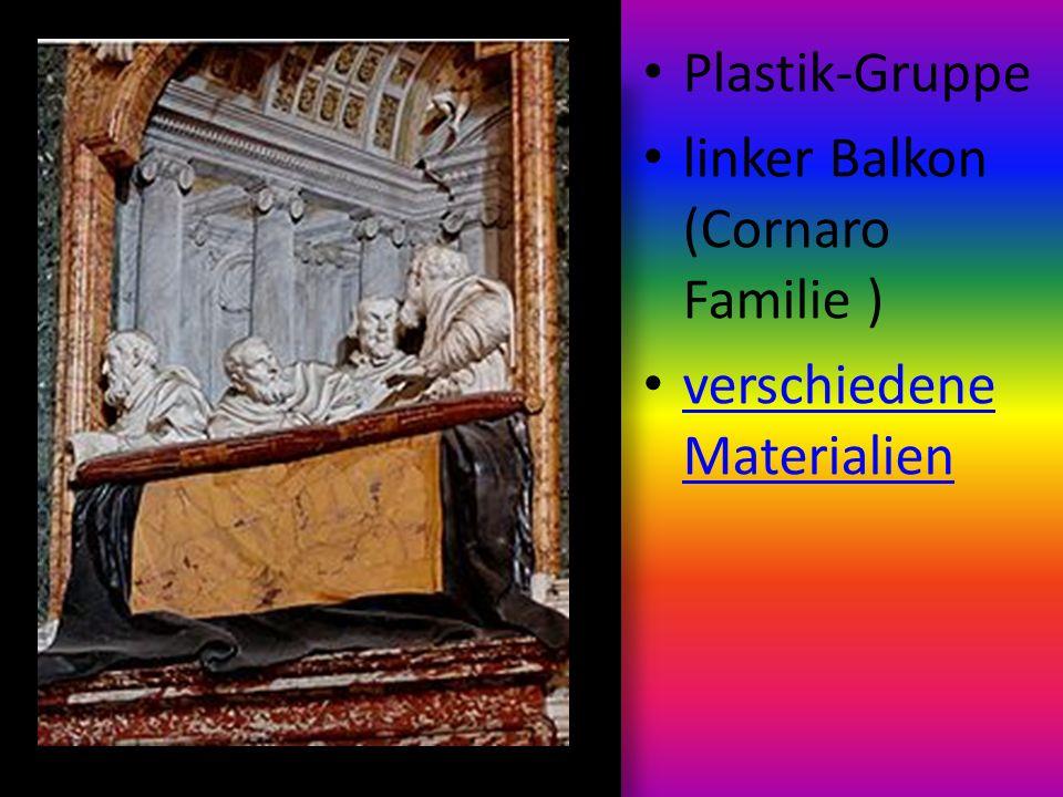 Plastik-Gruppe linker Balkon (Cornaro Familie ) verschiedene Materialien verschiedene Materialien