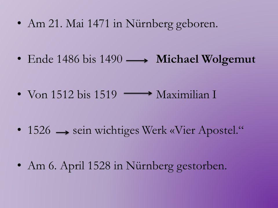 Er und seine Werke realistische Malerei nimmt eine beträchtliche psychologische Tiefe die Kunst des Porträts und Selbstporträts Er schrieb auch Bücher über Kunsttheorie und die Proportionen des menschlichen Körpers Der bedeutendste deutsche Künstler aller Zeiten