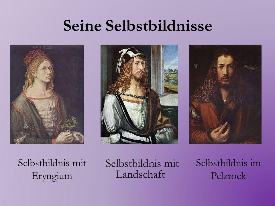 Eigenschaften Alle sind Spiegelbilder symmetrische Porträts Alle haben Dürers Monogramm mit den Initialen AD Alle haben eine lateinische Inschrift Er macht aus einem Gemälde Gegenstand der psychologischen Forschung