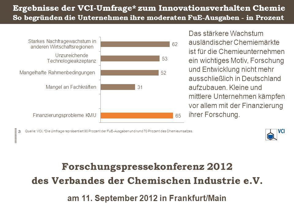 Forschungspressekonferenz 2012 des Verbandes der Chemischen Industrie e.V.