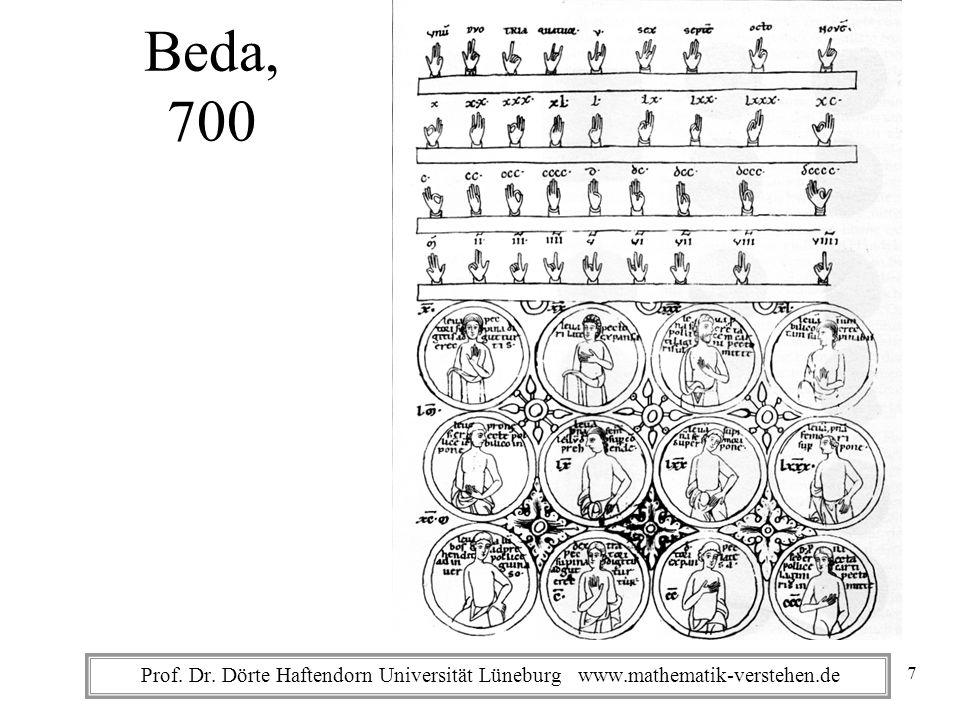 Prof. Dr. Dörte Haftendorn Universität Lüneburg www.mathematik-verstehen.de Beda, 700 7