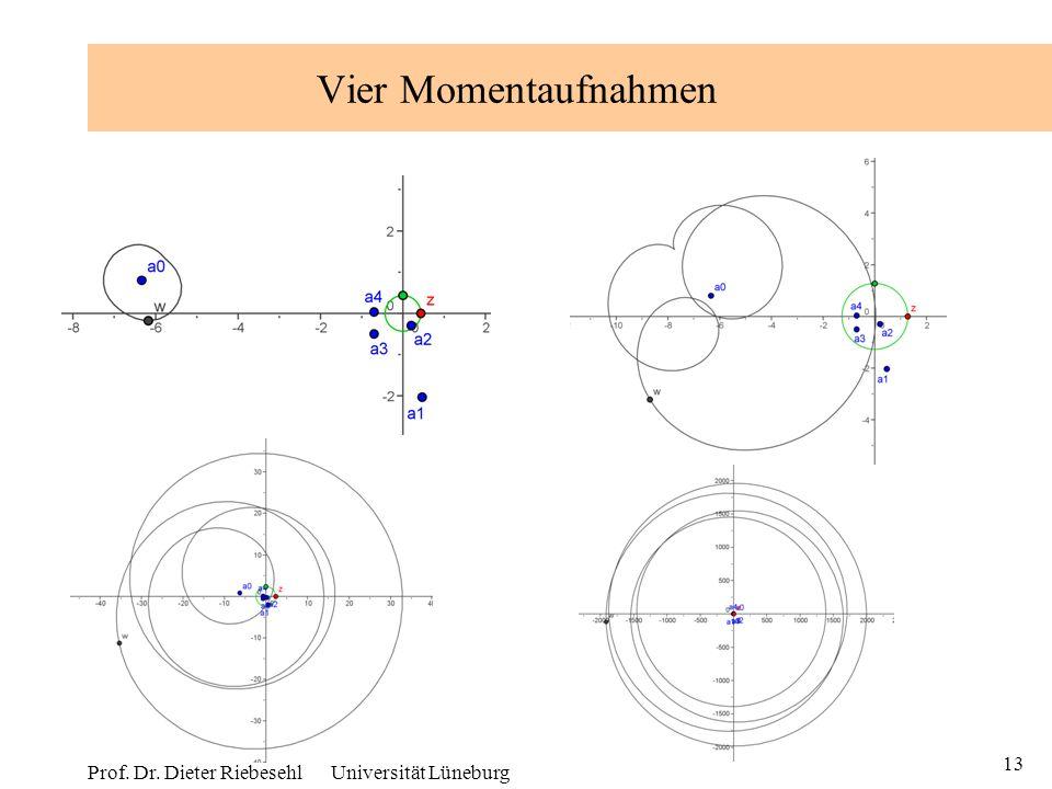 13 Prof. Dr. Dieter Riebesehl Universität Lüneburg Vier Momentaufnahmen