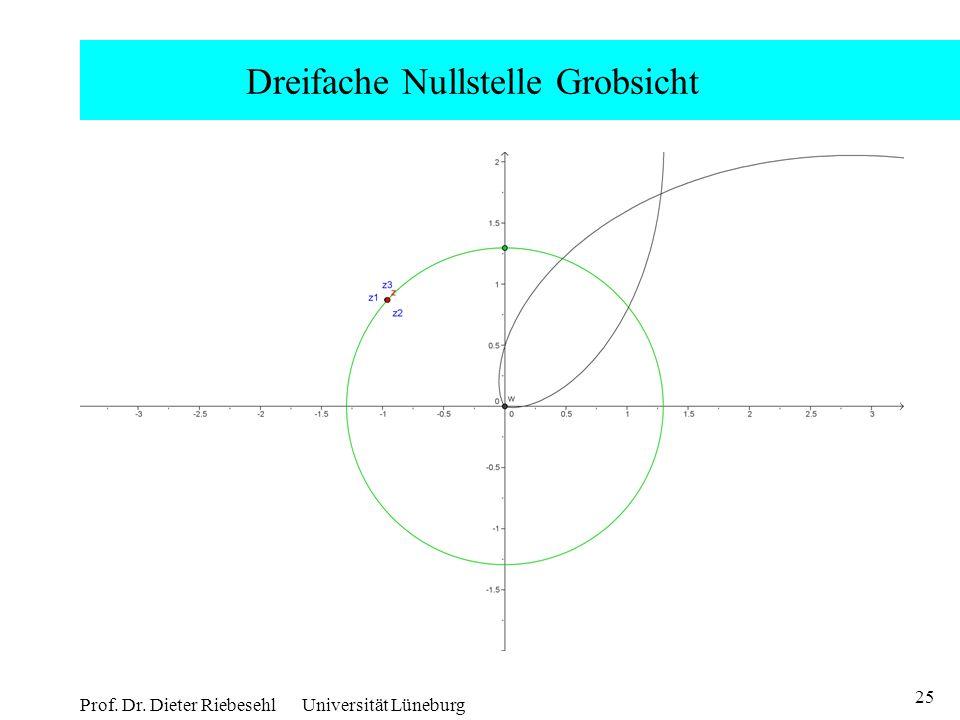25 Prof. Dr. Dieter Riebesehl Universität Lüneburg Dreifache Nullstelle Grobsicht
