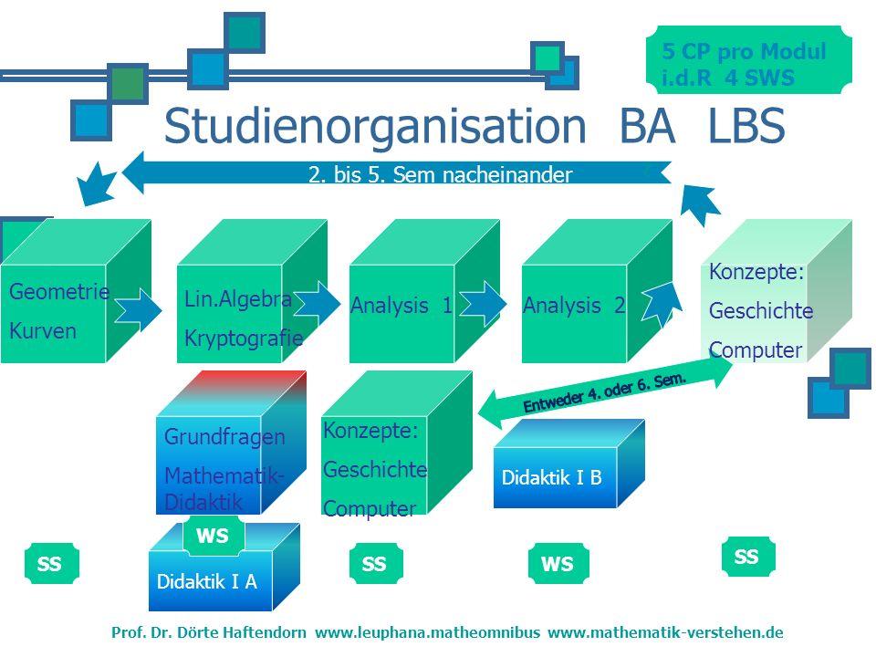 Studienorganisation BA LBS Geometrie Kurven Prof.Dr.