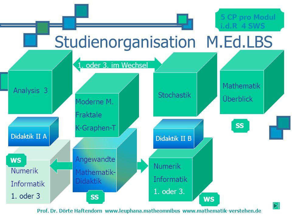 Studienorganisation M.Ed.LBS Moderne M.Fraktale K-Graphen-T Stochastik Prof.
