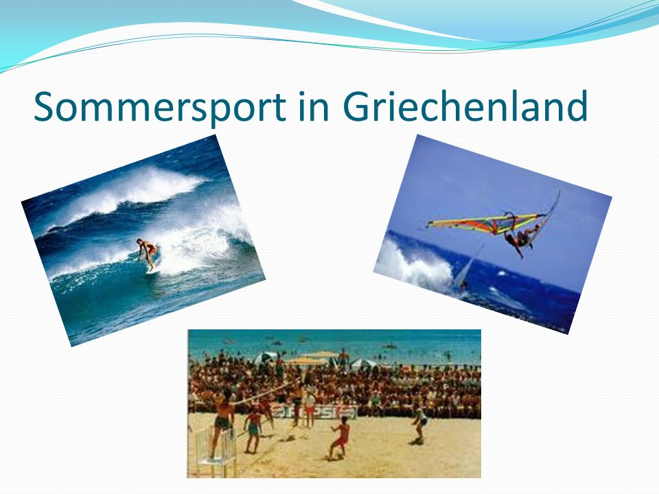 Sommersport in Griechenland