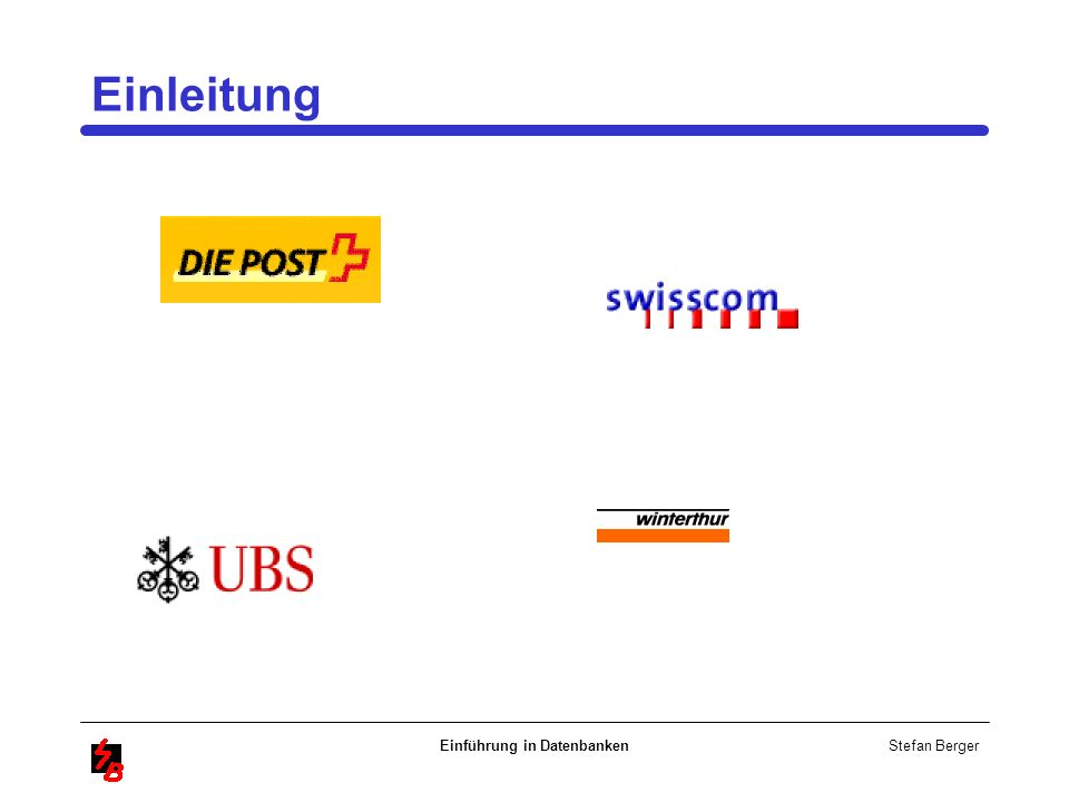Stefan Berger Einführung in Datenbanken Einleitung