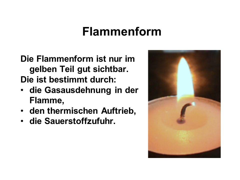 Reaktionsgeschwindigkeit Die RG ist gegeben durch: Die Härte des Wachses Die Oberfläche des Dochts Die Farbe der Kerze!!! (Blau brennt schneller als W