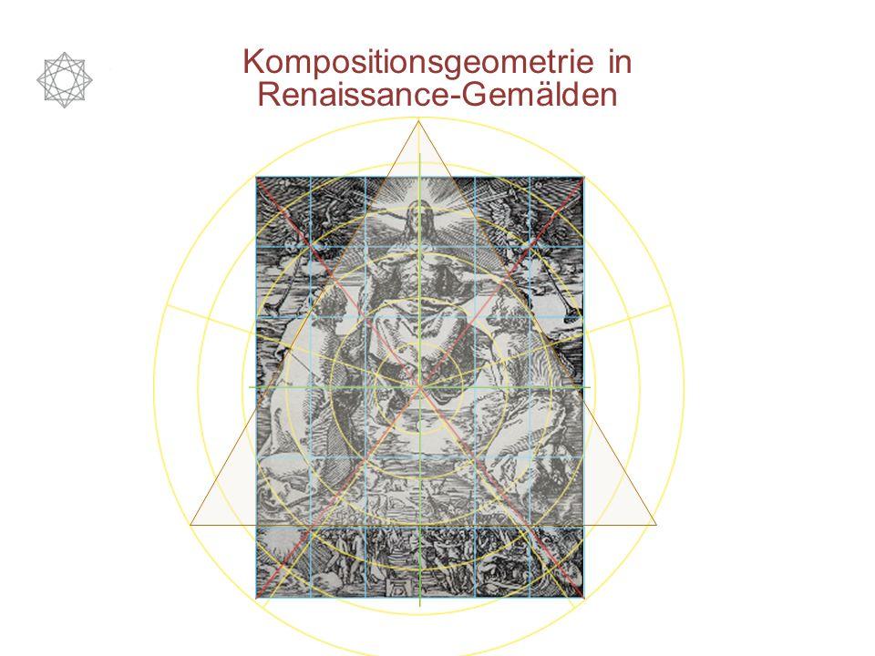 Kompositionsgeometrie in Renaissance-Gemälden Die Mittelhorizontale, Mittelsenkrechte und vor allem die Diagonalen trennen klar Himmel und Hölle.