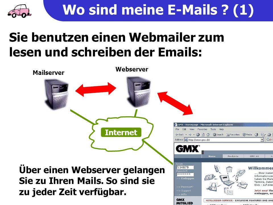 Wo sind meine E-Mails .