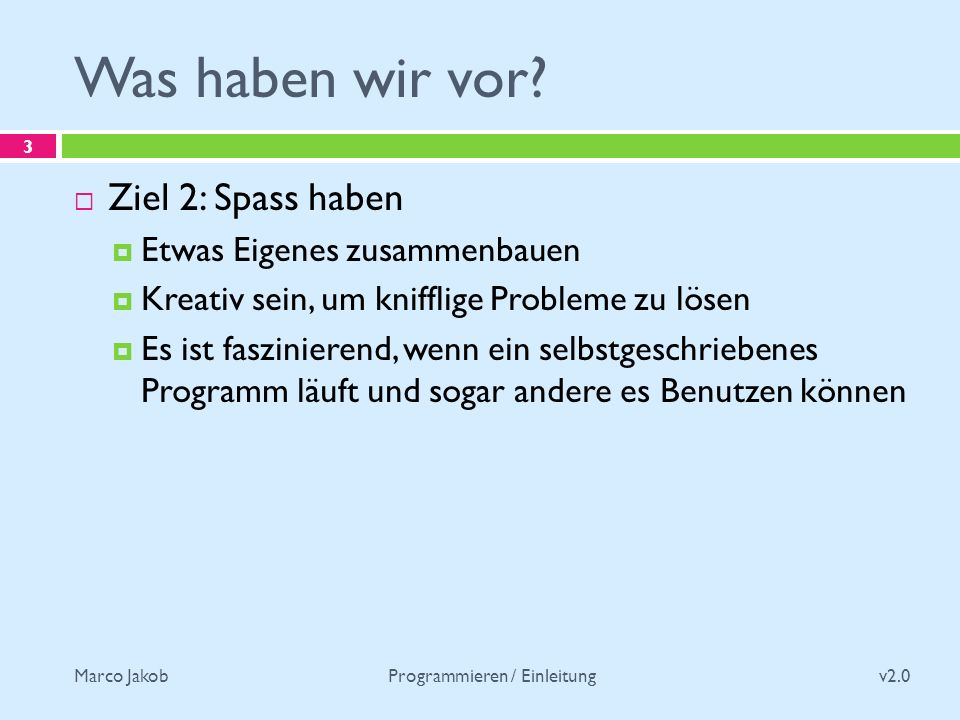 Marco Jakob Wie erreichen wir diese Ziele.