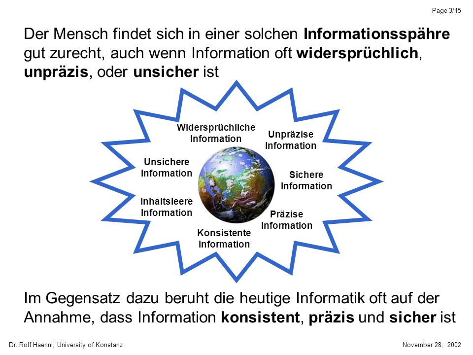 Dr. Rolf Haenni, University of KonstanzNovember 28, 2002 Page 14/15 Lokale Berechnung: ABCDFG H E