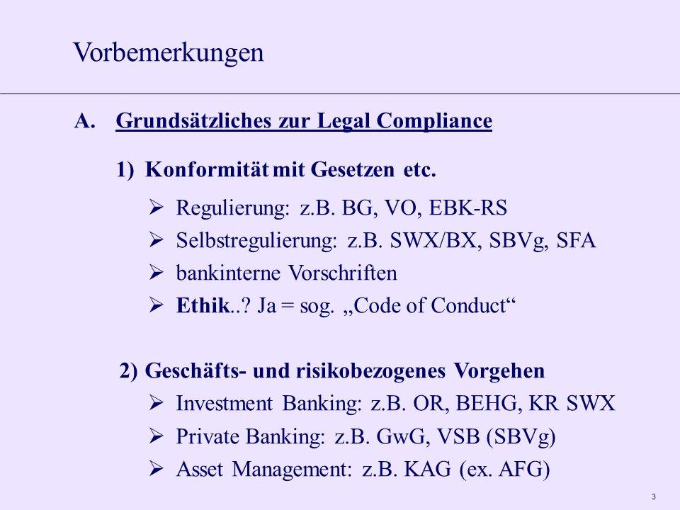 3 A.Grundsätzliches zur Legal Compliance 1)Konformität mit Gesetzen etc.