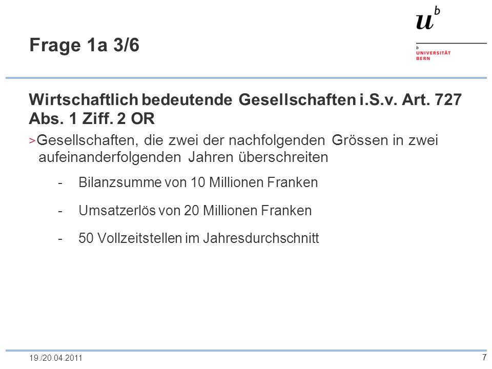 18 Frage 2a 4/7 Unterbilanz Art.