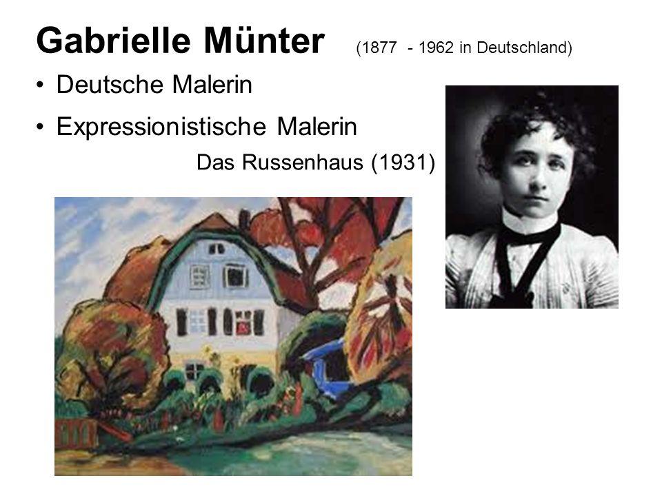 Deutsche Malerin Expressionistische Malerin Gabrielle Münter (1877 - 1962 in Deutschland) Das Russenhaus (1931)