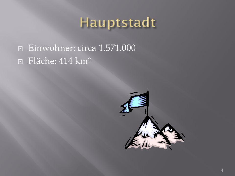 Einwohner: circa 1.571.000 Fläche: 414 km² 4