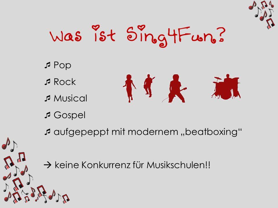 Pop Rock Musical Gospel aufgepeppt mit modernem beatboxing keine Konkurrenz für Musikschulen!!