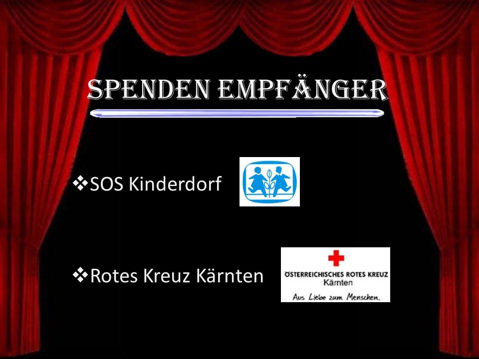 SOS Kinderdorf Rotes Kreuz Kärnten Spenden EMPFÄNGER