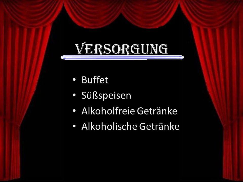Versorgung Buffet Süßspeisen Alkoholfreie Getränke Alkoholische Getränke