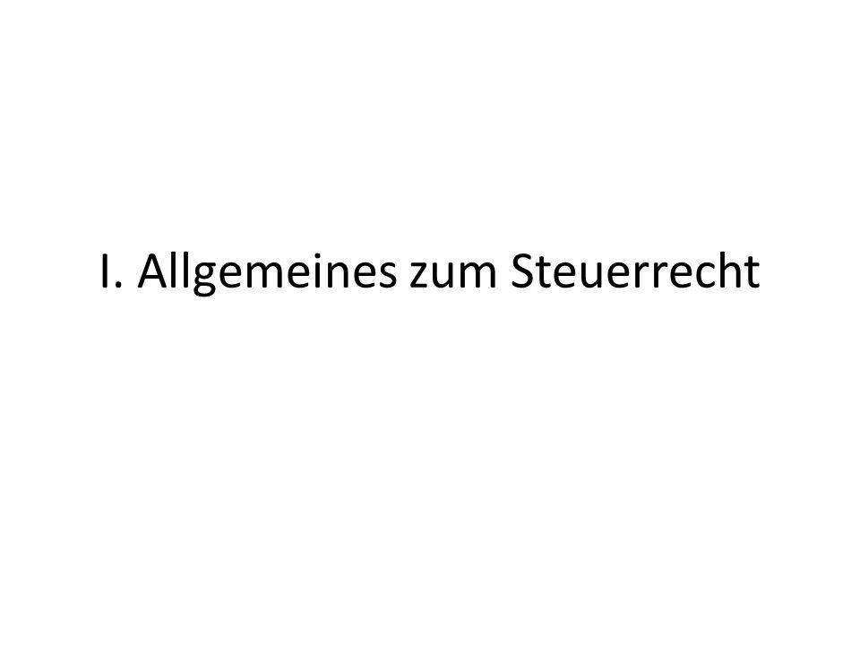 I.Wesen und Begründung der Steuern 1.