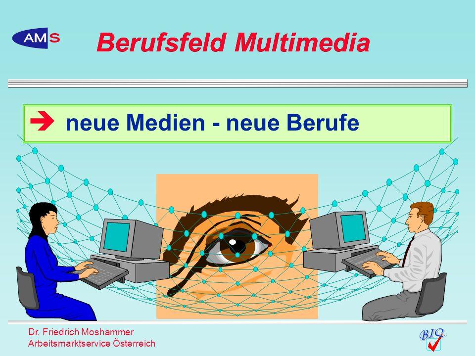 Dr. Friedrich Moshammer Arbeitsmarktservice Österreich neue Medien - neue Berufe Berufsfeld Multimedia