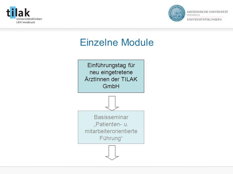 Einführungstag für neu eingetretene ÄrztInnen der TILAK GmbH Basisseminar Patienten- u.