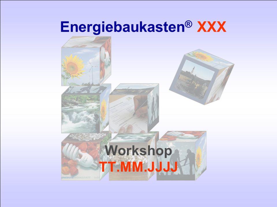 Energiebaukasten ® XXX 12TT.MM.JJJJ Modul 2 - Einsparpotenzial Wärme Senkung des Wärmeverbrauchs/ Trend JJJJ - JJJJ um Zahl % Senkung der Energiekennzahl/ Gmd.