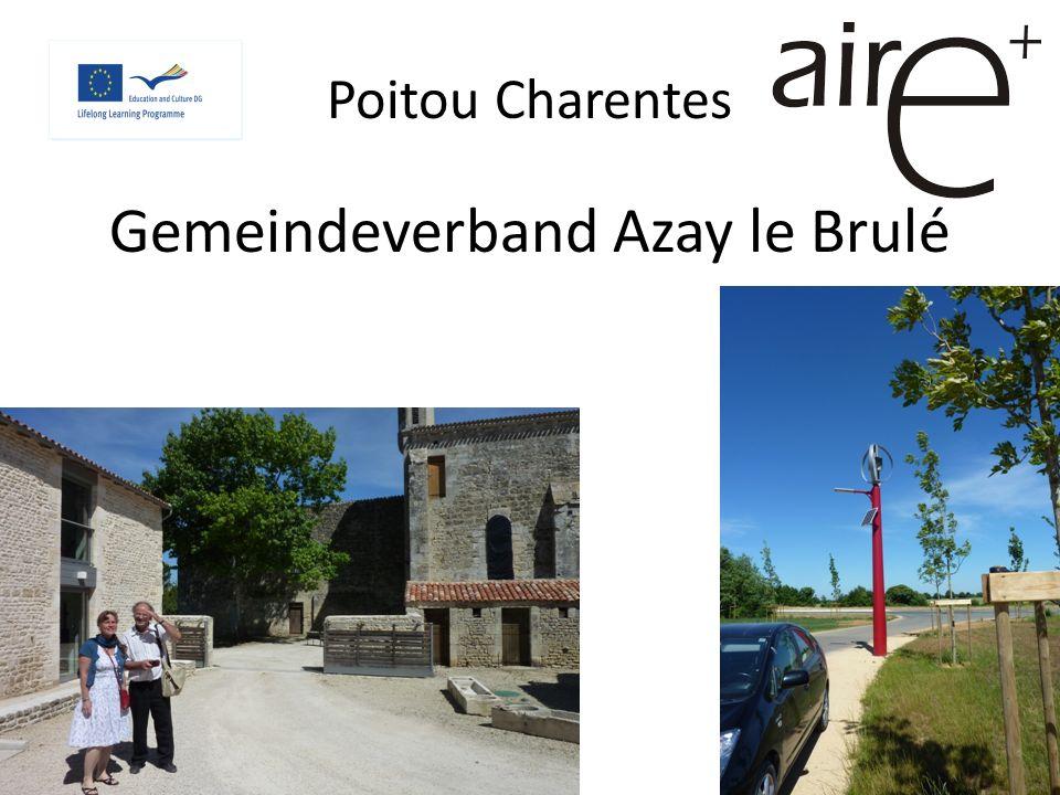 Poitou Charentes Gemeindeverband Azay le Brulé