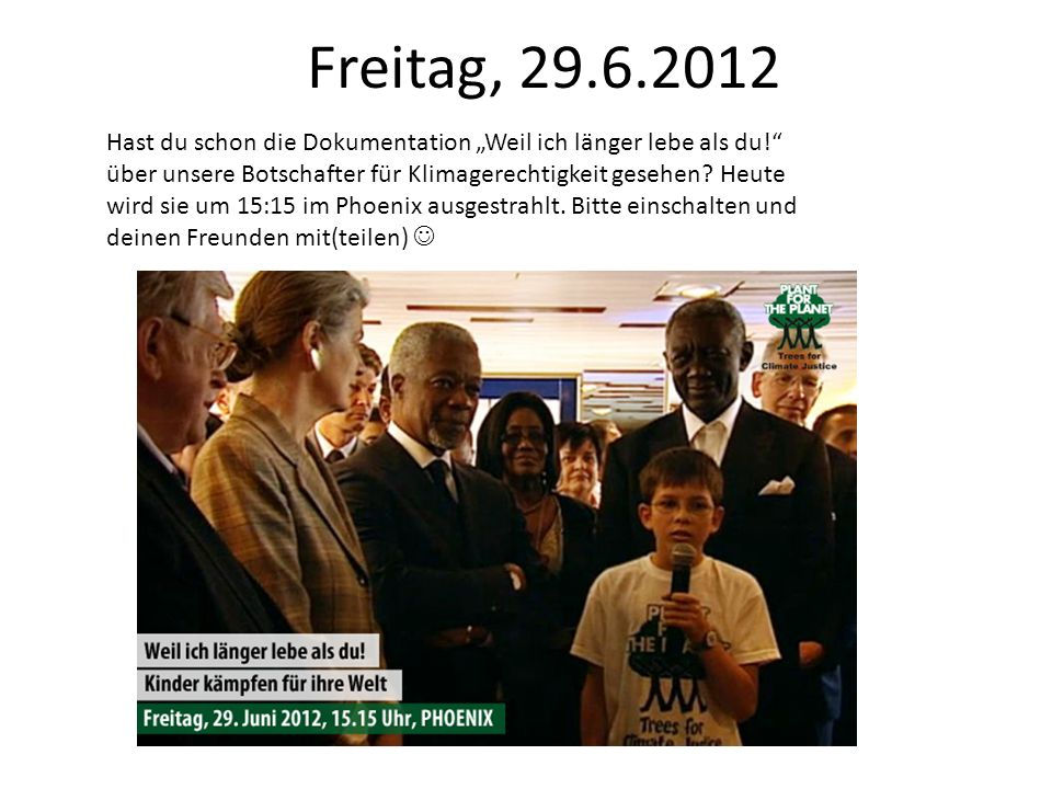 Regieplan Social Media – Stop talking. Start planting Kalenderwoche 27 2.7.12 – 8.7.12