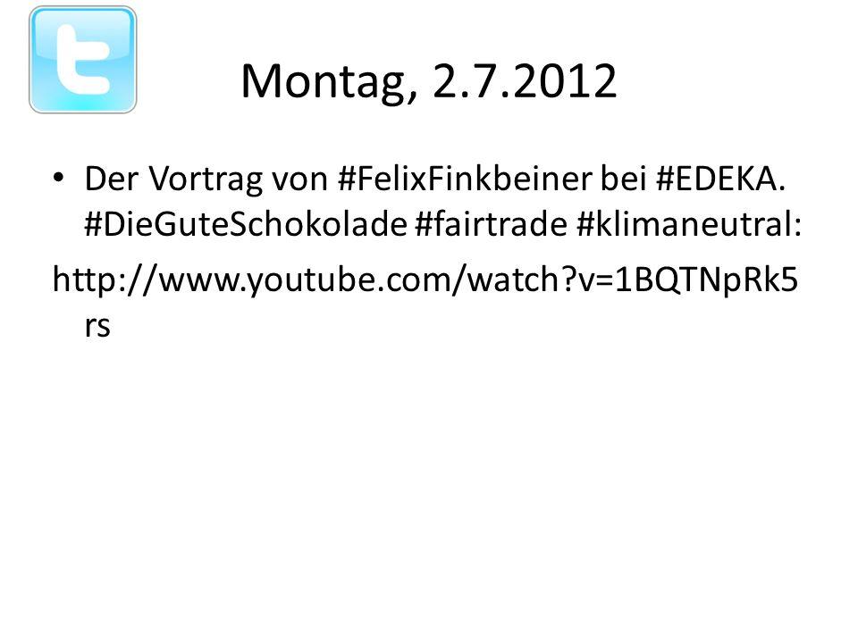 Montag, 2.7.2012 Der Vortrag von #FelixFinkbeiner bei #EDEKA.