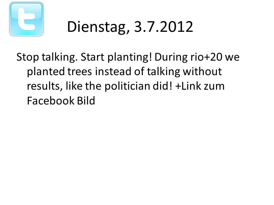 Stop talking. Start planting.